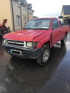 toyota hilux single cab red 1